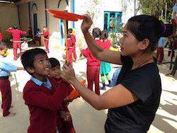 Circus Kathmandu workshop. Photo courtesy of CK.