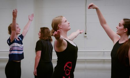 Fiona Hulands instructing students. Photo courtesy of Hulands