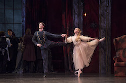 Lachlan Monaghan as Clara's Dancing Partner and Karla Doorbar as Clara in 'The Nutcracker'. Photo by Bill Cooper.