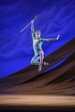 Lachlan Monaghan as Neptune in 'The Tempest'. Photo by Bill Cooper.