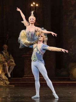 Lachlan Monaghan in 'The Sleeping Beauty'. Photo courtesy of Birmingham Royal Ballet.
