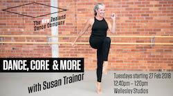 NZDC's Dance, Core & More class. Photo by Caroline Bindon.