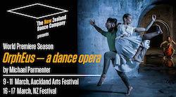NZDC's 'OrphEus - a dance opera'. Photo by John McDermott.
