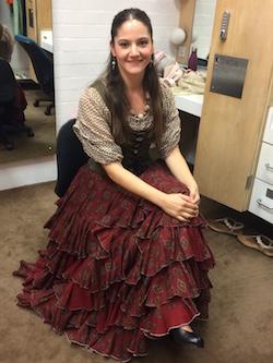 Naima Amar Lopez backstage. Photo by Elizabeth Ashley.