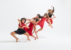 New Zealand School of Dance students Kia Jewell, Jareen Wee, Ngaere Jenkins, Alanna Main and Olivia Foley. Photo by Stephen A'Court.