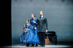 RNZB dancers Abigail Boyle and Paul Mathews with Hazel Couper. Photo by Stephen A'Court.