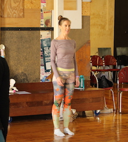 Bea Glendenning instructing. Photo by Suzy Cooper.
