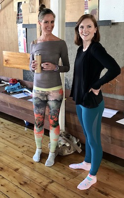 Biomechanics educators Bea Glendenning and Sophie Louise Briggs. Photo by Suzy Cooper.