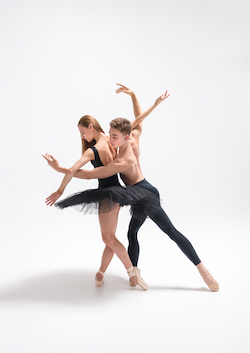 New Zealand School of Dance students Cadence Barrack and Louis Ahlers. Photo by Stephen A'Court.