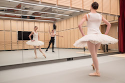 The Australian Ballet in Sydney Opera House's ballet rehearsal room. Photo by Daniel Boud.