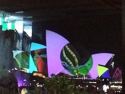 Sydney Opera House at night. Photo by Elizabeth Ashley.