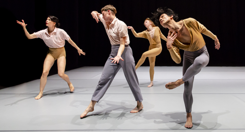 Deanne Butterworth, Rebecca Jensen, Jo Lloyd and Shian Law in Lloyd's 'Overture'. Photo by Bryony Jackson.