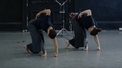 Lilian Steiner (left) in 'Noise Quartet Meditation'. Footage by James Wright.