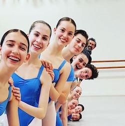 Simon Dow with students. Photo courtesy of The Australian Ballet School.