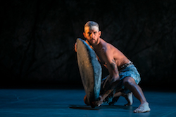 Daniel Riley in Bangarra Dance Theatre's 'Dark Emu'.