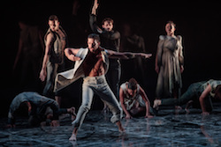 Daniel Riley in Bangarra Dance Theatre's 'Bennelong'.