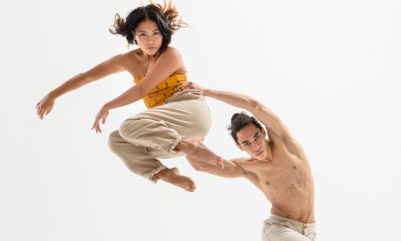 NZSD contemporary dance students Jareen Wee and Chris Clegg. Photo by Stephen A'Court.