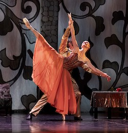 Andrew Radak and Brooke Widdison-Jacobs in 'Beauty and the Beast'. Photo by Sergey Pevnev.