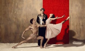 The Australian Ballet's Kevin Jackson, Ty King-Wall and Robyn Hendricks in 'Spartacus'. Photo Justin Ridler.