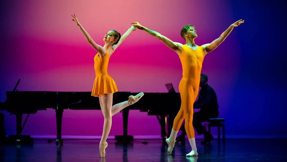 Olivia Moore and Calum Gray in 'Concerto' at NZSD's 50th Anniversary Gala. Photo by Stephen A'Court.