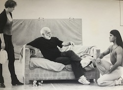 Julio Monge (right) in rehearsal with Jerome Robbins and Charlotte D'Amboise. Photo by Martha Swope.