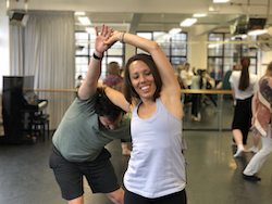 Jamie Winbank and Mel Tyguin, 'Inclusive Approaches to Teaching Dance' in partnership with TAFE and ACFIBS. Photo courtesy of Ausdance NSW.