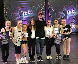 2017 States with Cat Santos and David McClear. Photo courtesy of Jump Dance Challenge.