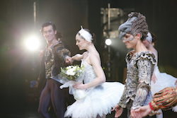Abigail Boyle (center) in 'Swan Lake'. Photo courtesy of RNZB.