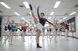 Dusty Button teaching at International Ballet Workshops. Photo by Mitchell Button.