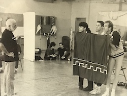 Joey McKneely in rehearsals with Jerome Robbins. Photo courtesy of McKneely.