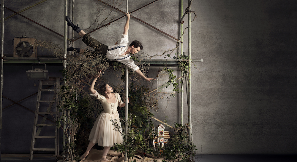 RNZB dancers Shaun James Kelly and Kirby Selchow in 'Hansel and Gretel'. Photo by Ross Brown.