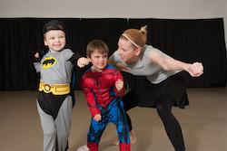 Superhero boys. Photo by Graham Read.