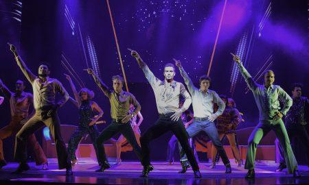 Euan Doidge and the cast of 'Saturday Night Fever'. Photo by Heidi Victoria.