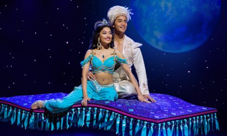 Shubshri Kandiah and Graeme Isaako in 'Aladdin'. Photo by James Green.