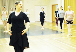 Jo McDonald leading an adult ballet class. Photo courtesy of McDonald.