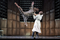 Jesse Homes Renfield and Christian Luck as Dr Jack Seward in West Australian Ballet's 'Dracula'. Photo by Jon Green.