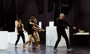 ADT rehearsing Garry Stewart's 'South'. Photo by Sven Kovac.