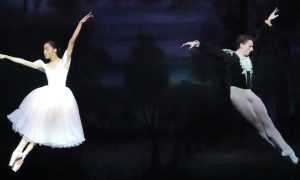 Dayana Hardy Acuña as Giselle with Guest Artist Kevin Jackson as Albrecht. Photo by Scott Dennis.