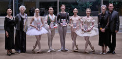 Genée International Ballet Competition 2019 medallists and judges. Photo by Michael Slobodian.