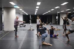 Bangarra in rehearsal. Photo by Lisa Tomasetti.