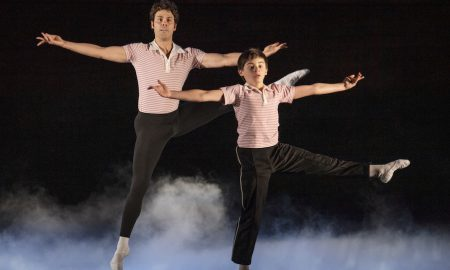 Aaron Smyth and Wade Neilsen in 'Billy Elliot the Musical'. Photo by James D. Morgan.