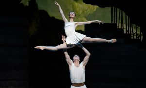 Ako Kondo and Kevin Jackson in 'Sylvia'. Photo by Jeff Busby.