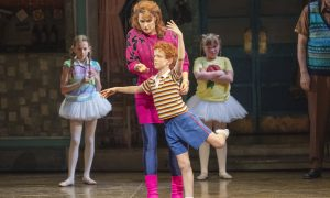 Lisa Sontag and Jamie Rogers in 'Billy Elliot the Musical'. Photo by James D. Morgan.