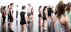 Choreographer Paul Malek works with Origins Dance Company. Photo by Jayden Hicks.