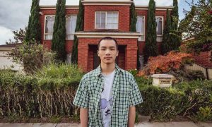 Xander Soh outside his Rowvilee home. Photo by Paul Malek.