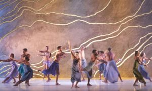 Bangarra Dance Theatre in 'Terrain'. Photo by Jeff Busby.