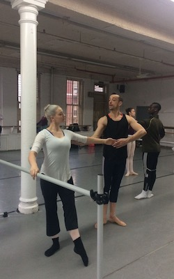 Matthew Prescott teaching at the Joffrey Ballet School.
