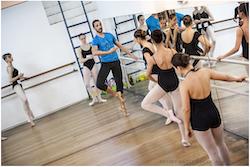 Matthew Prescott teaching for Joffrey Ballet School. Photo by Carolina Poggi.