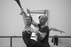 Louisville Ballet Company Dancer Natalia Ashikhmina and Artistic Director Robert Curran. Photo by Sam English.
