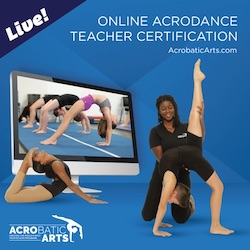 Acrobatic Arts online teacher training.